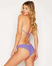 Angela Skimpy Bikini Bottom in Lilac - back view