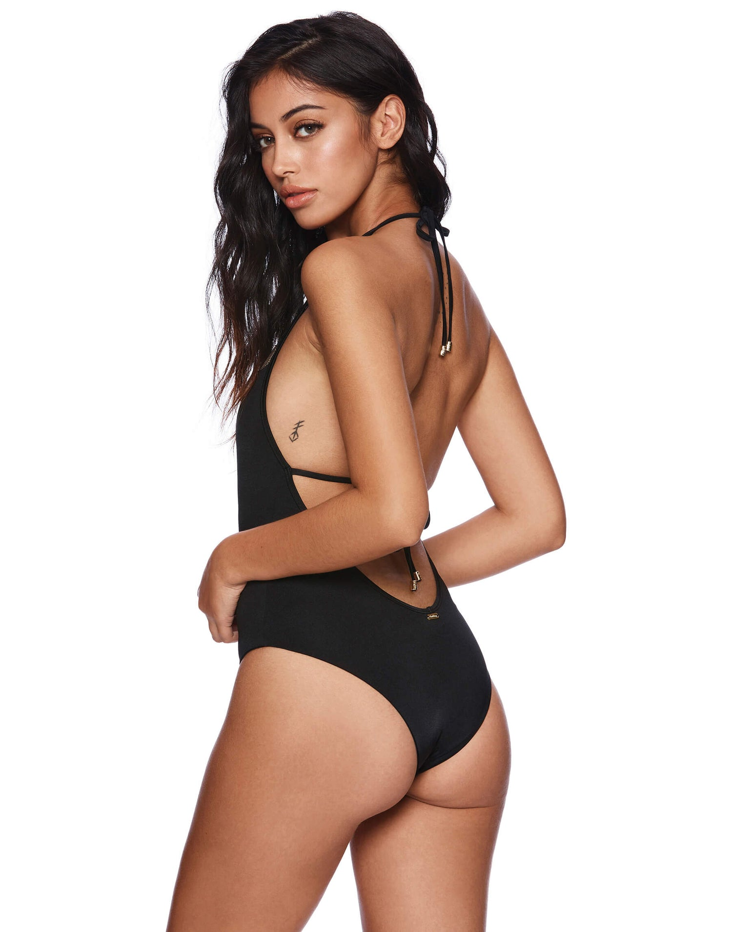 Farrah Lacy One Piece in Black Side View