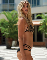 Gunpowder and Lace Skimpy Bikini Bottom in Black - Runway View