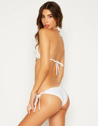 White Hard Summer Triangle Swimsuit - side view
