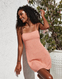 Harper Apparel Slip Dress in Rose - Alternate Front View