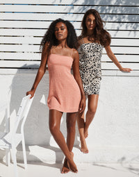 Harper Apparel Slip Dress in Animal Dot - Alternate Front View