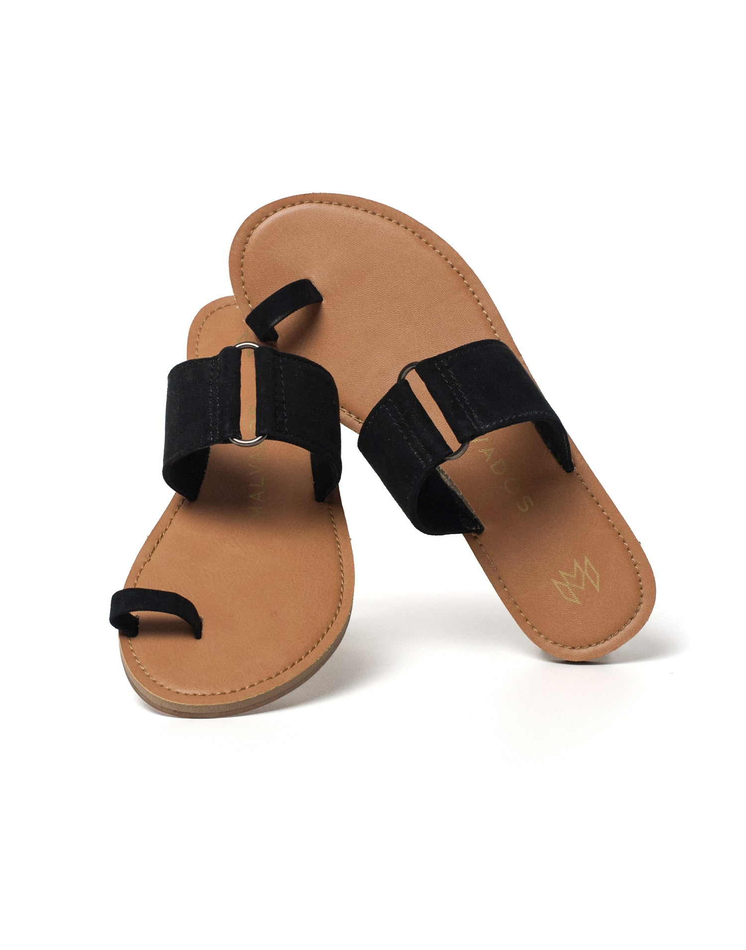 Malvados Icon Tori Sandal in Black - alternate product view