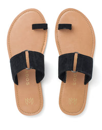 Malvados Icon Tori Sandal in Black - product view