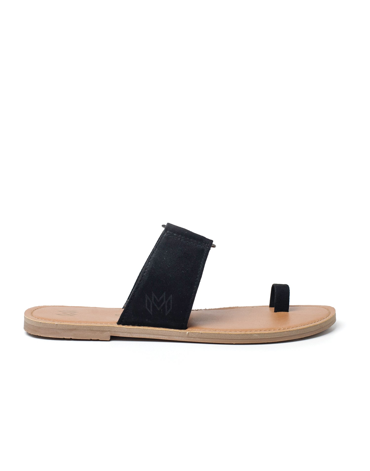 Malvados Icon Tori Sandal in Black - side view