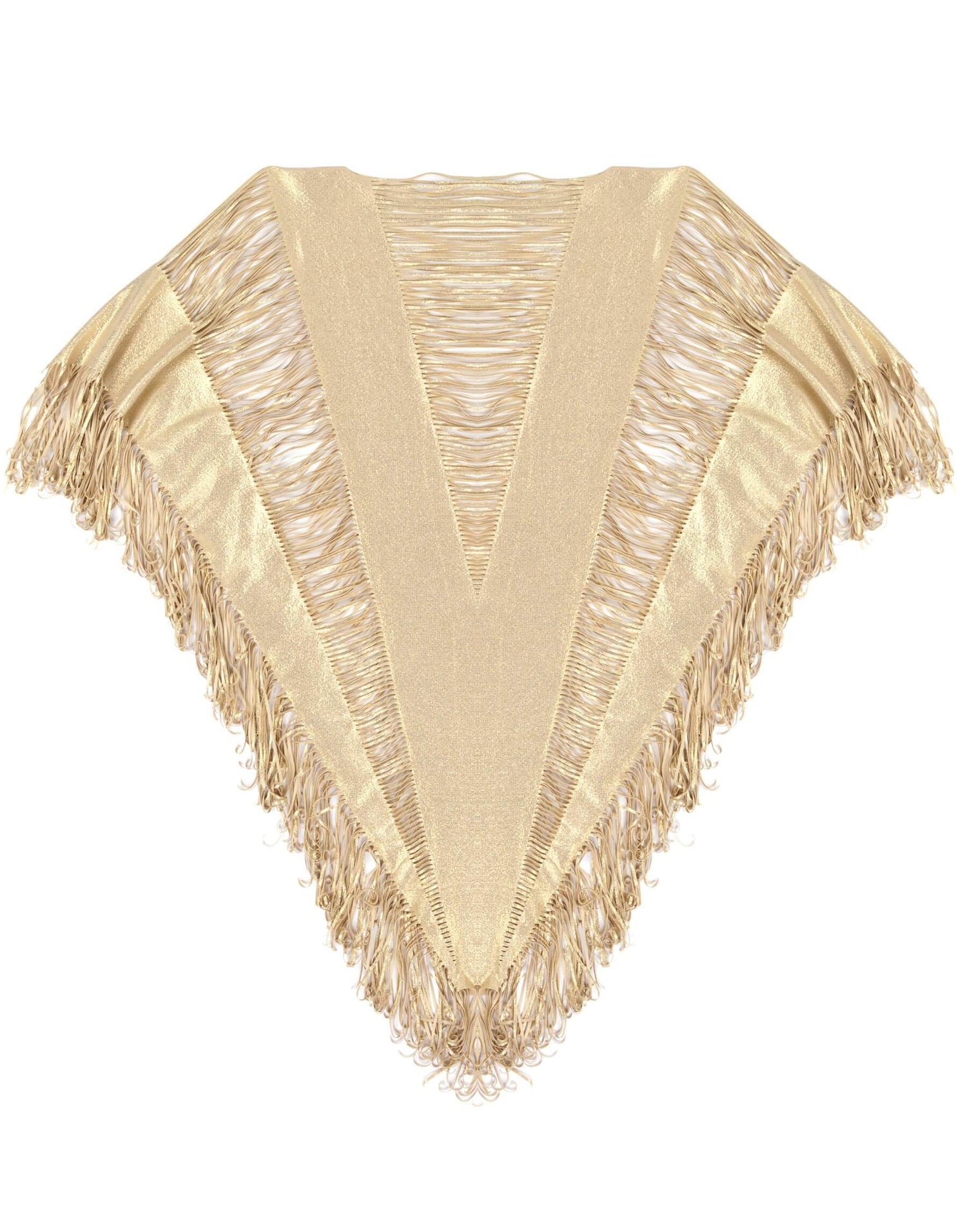 Gold Poncho for Music Festival - product view