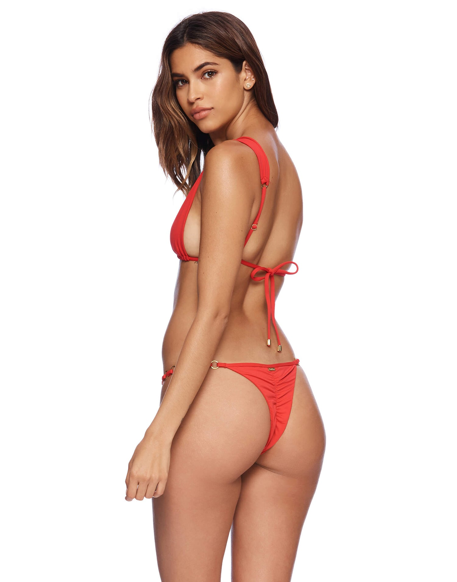 extra skimpy bikini bottom in red