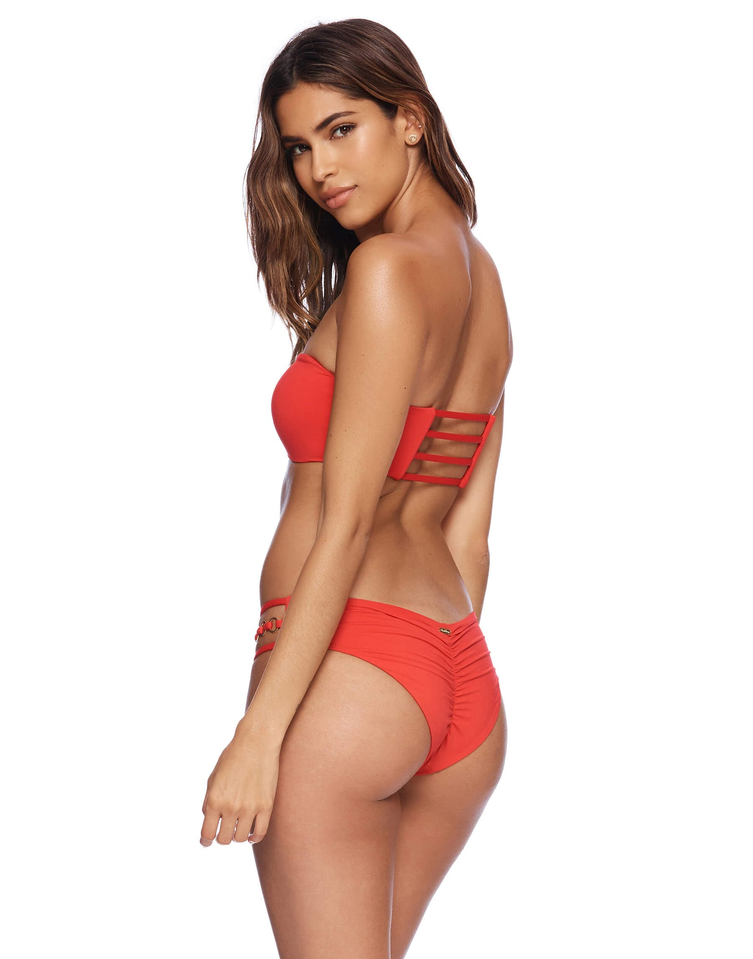 Ireland Ring Bandeau in Red Back View