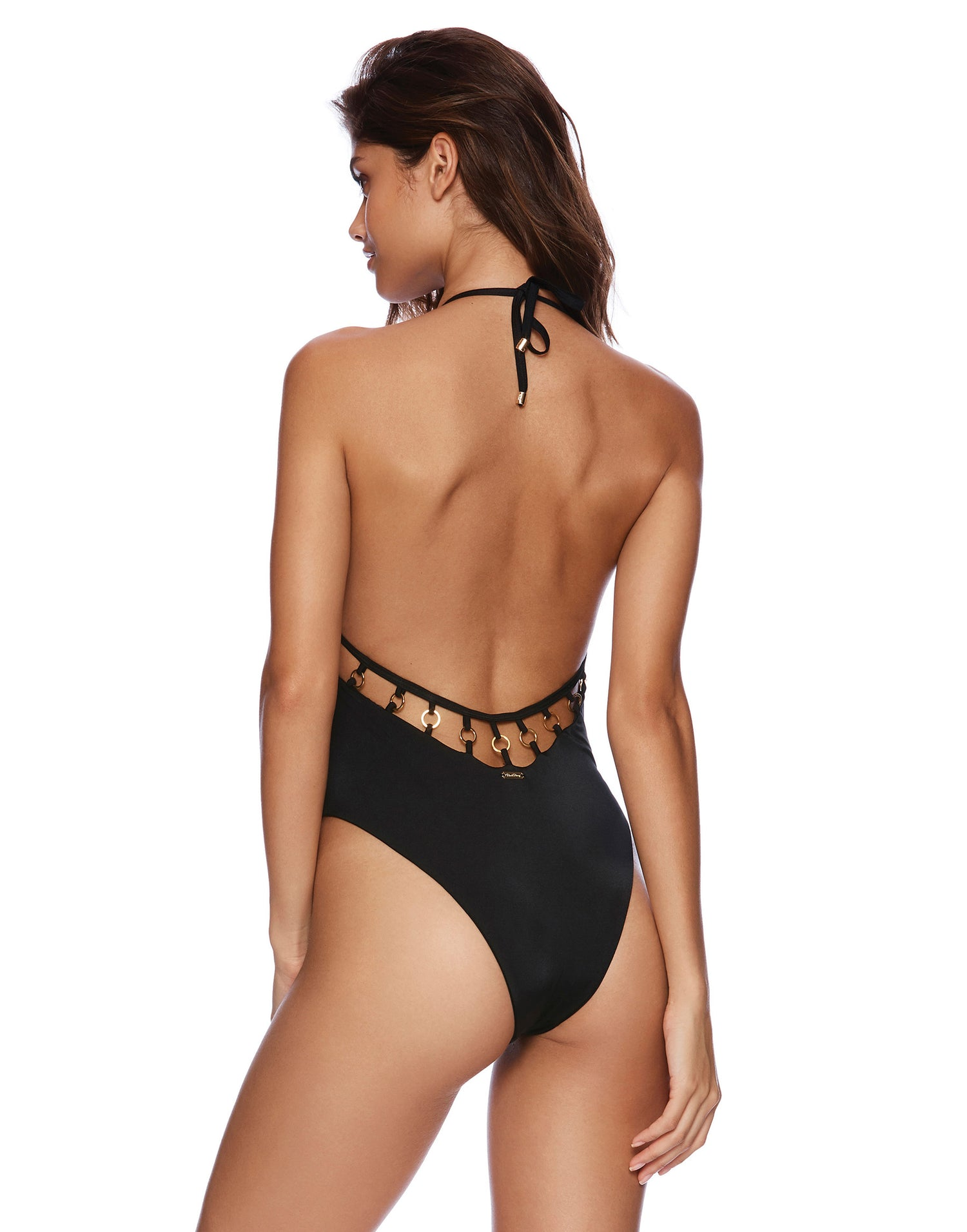 Ireland One Piece in Black Back View