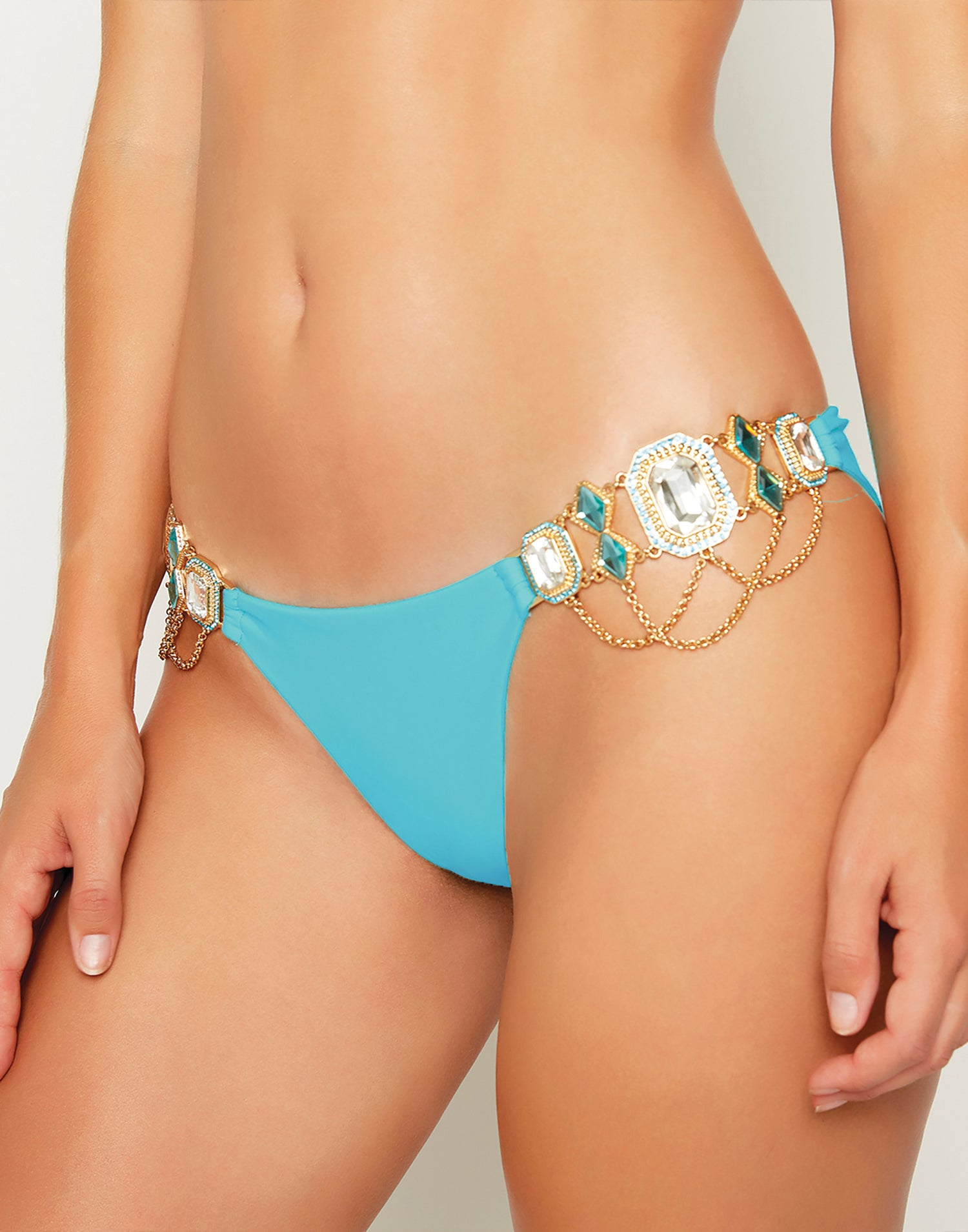 Jazmin Skimpy Bikini Bottom in Sky Blue - detail view