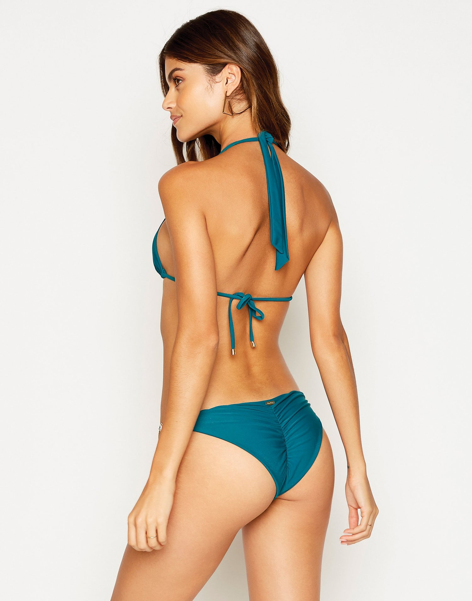 Jazmin Skimpy Bikini Bottom in Teal - back view