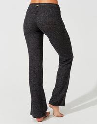 Josie Pant in Black Rib - back view