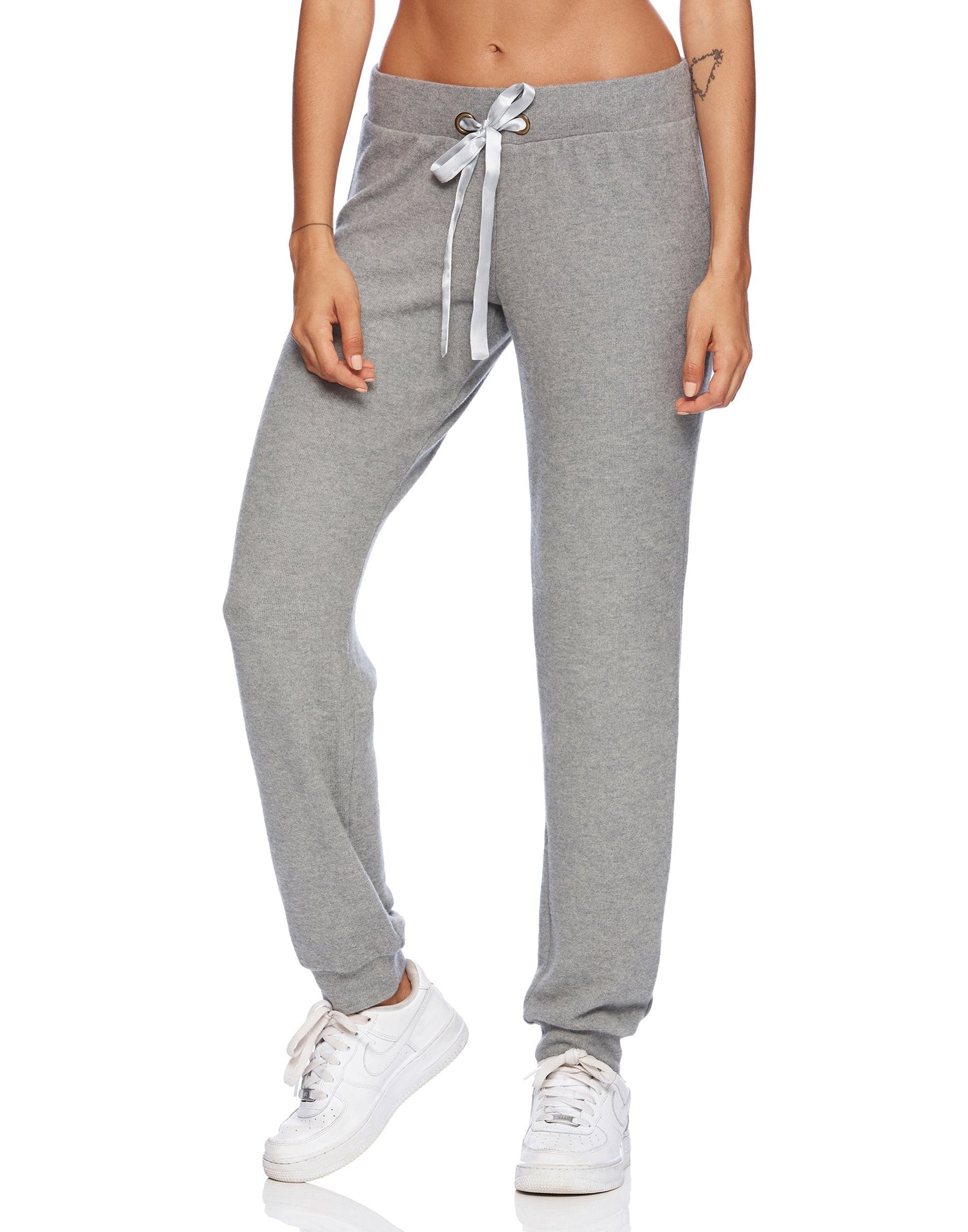 Josie Jogger in Heather Gray - alternate front view