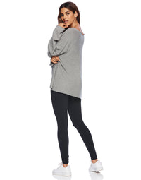 Josie Sweatshirt in Heather Gray - back view
