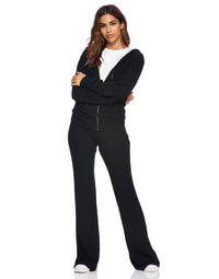 Josie Pant in Black - alternate front view
