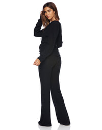 Josie Pant in Black - side view