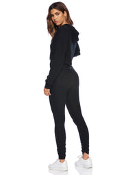 Josie Legging in Black with Ruching at the Bottom Leg - side view