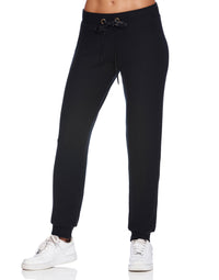 Josie Jogger in Black - alternate front view