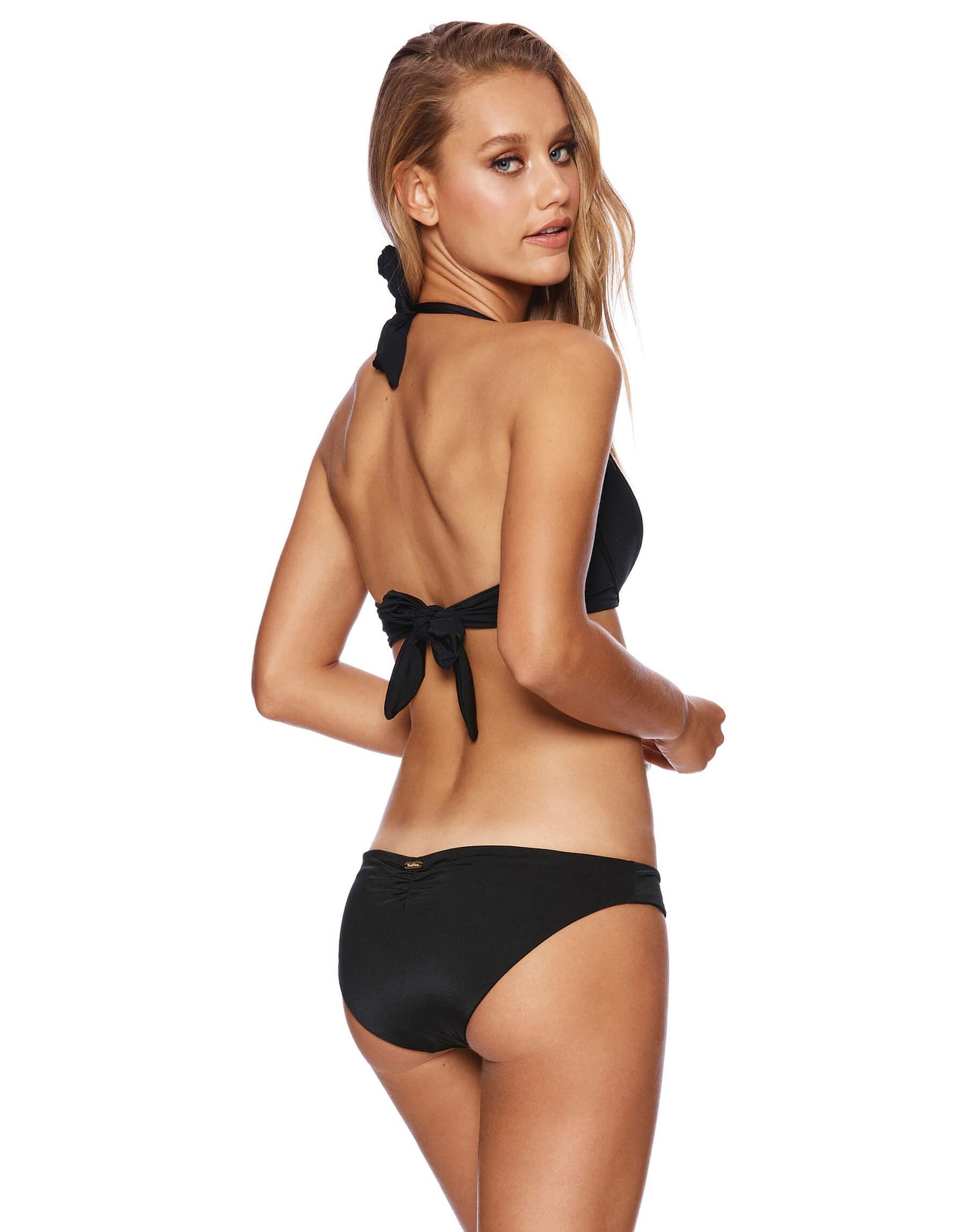 Kate Push Up Bikini Top in Black - Back View