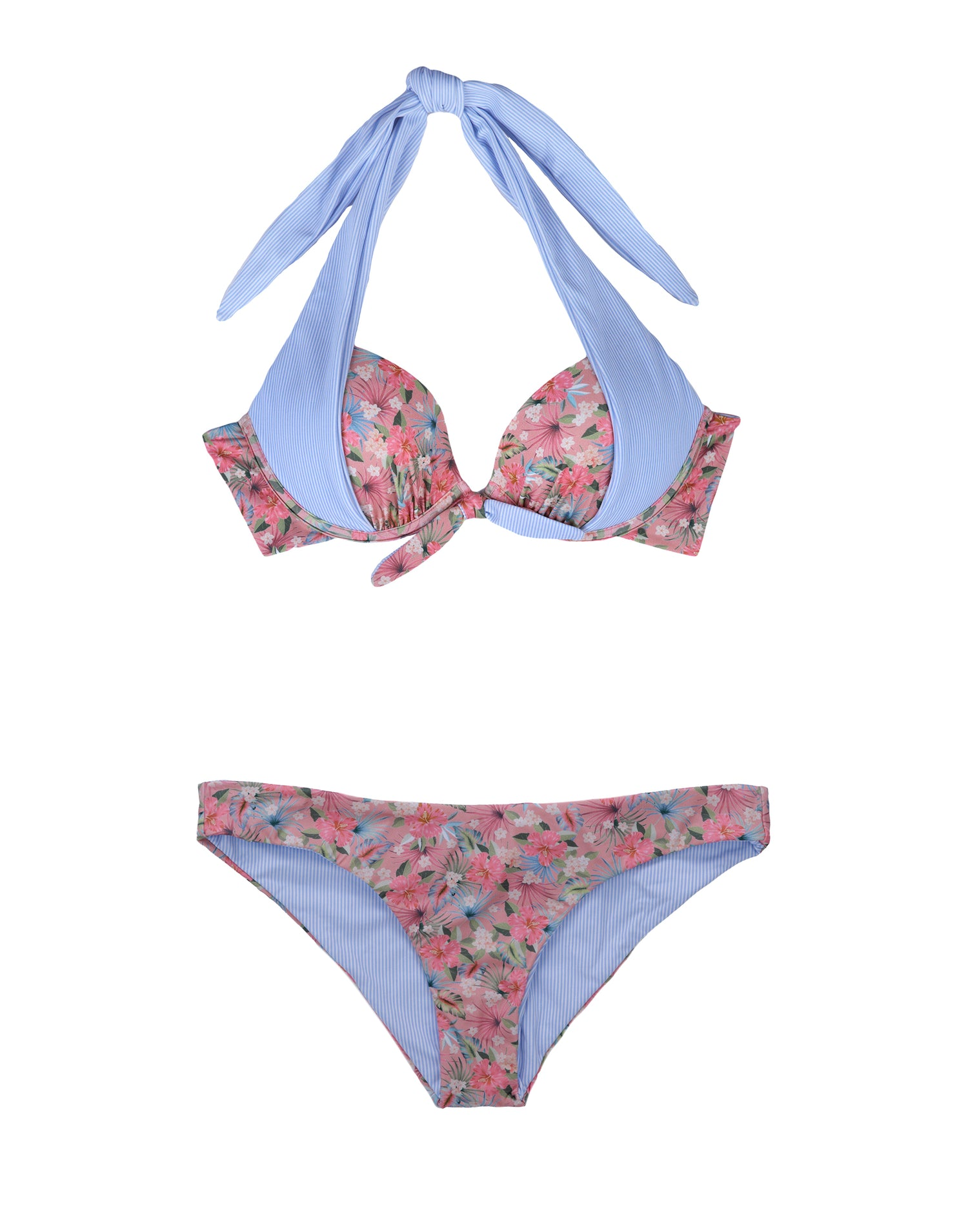 Stephanie Reversible Midi Bikini Bottom in Marseille Floral - product view