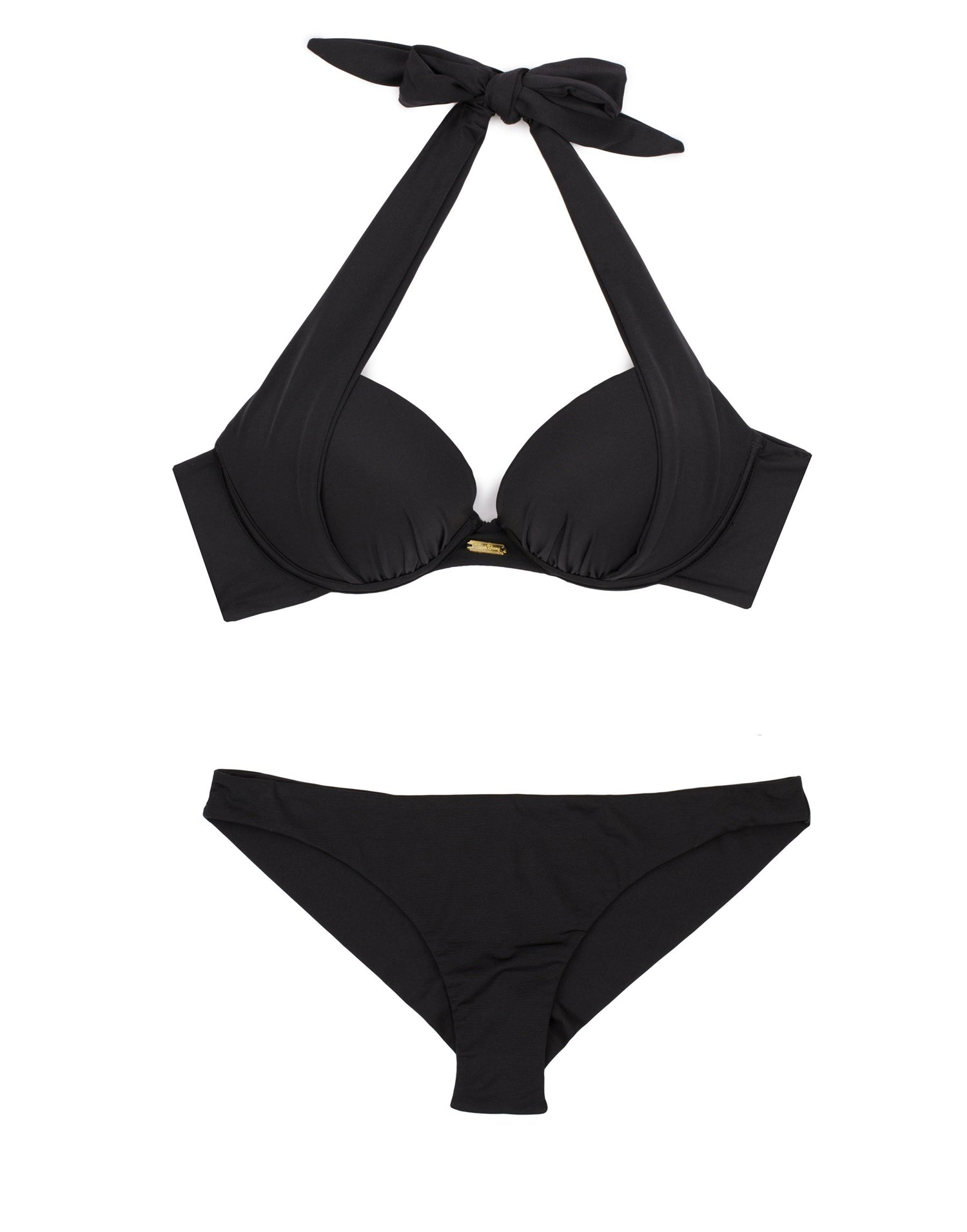 Black Kate Push Up Bikini Top - Product View