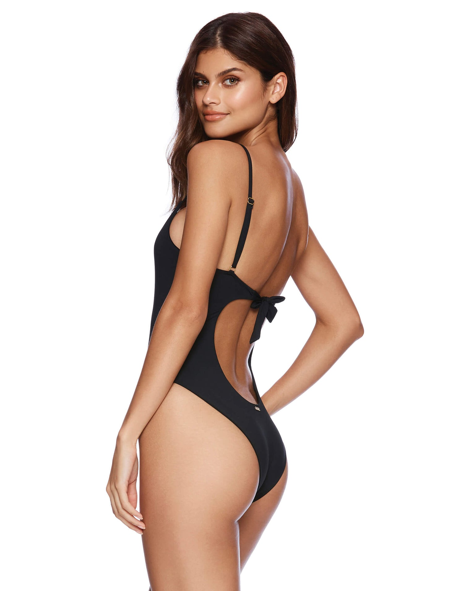 44c83a599 Black Katrina One Piece Swimsuit - Back View
