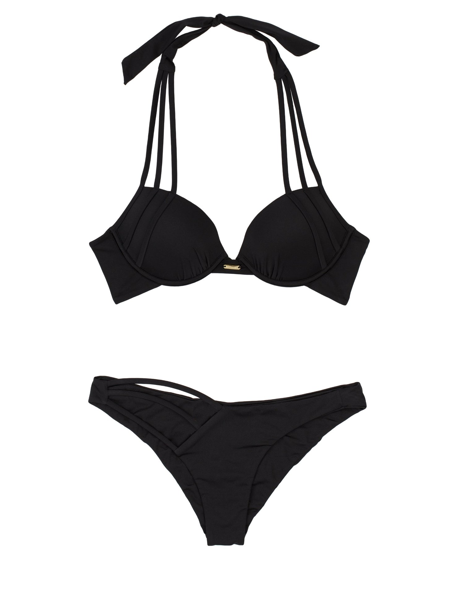 Kennedy Skimpy Bikini Bottom in Black - product view