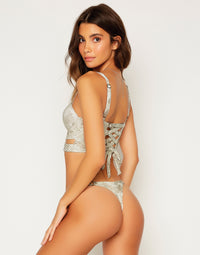 Kingston Bustier Top in Snake - Back View