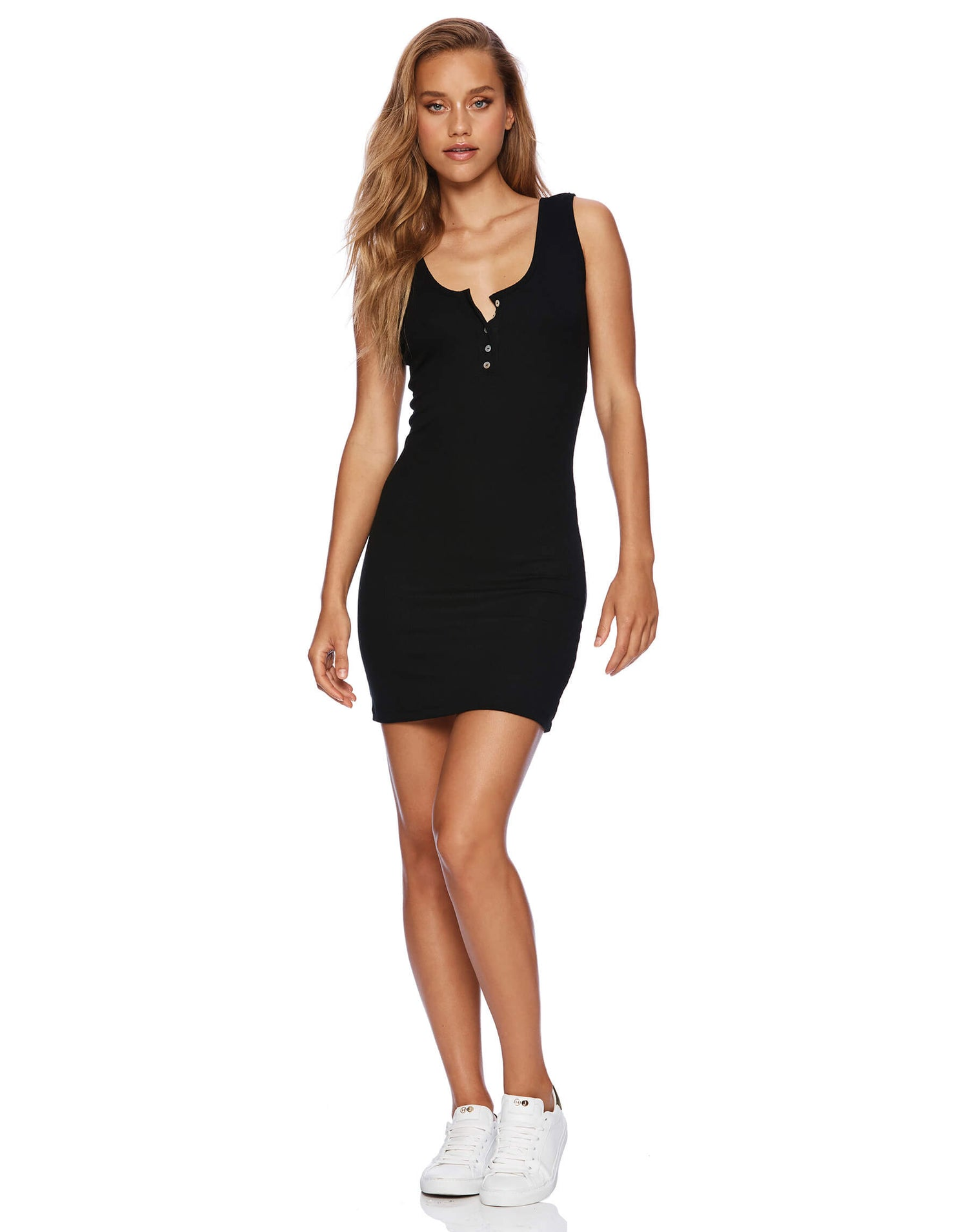 Kylie Black Beach Mini Casual Dress