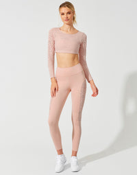 Lauren Crop Top in Pink Leopard - front view