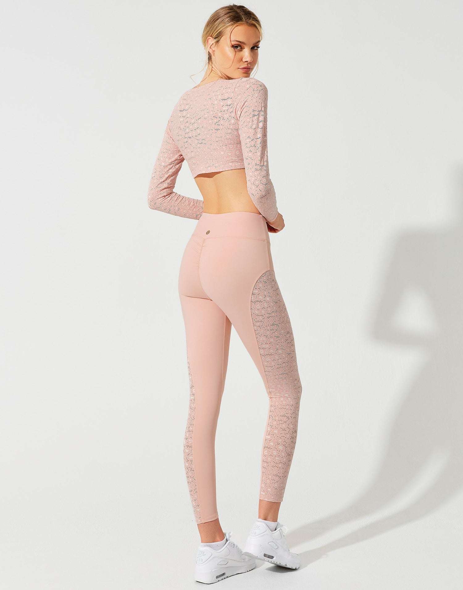 Lauren Crop Top in Pink Leopard - back view