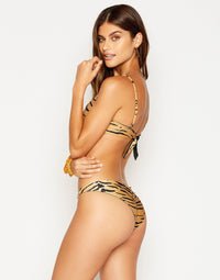 Nadia Skimpy Bikini Bottom in Tiger - side view