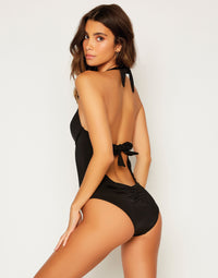 Lisa Full One Piece in Black - Back View
