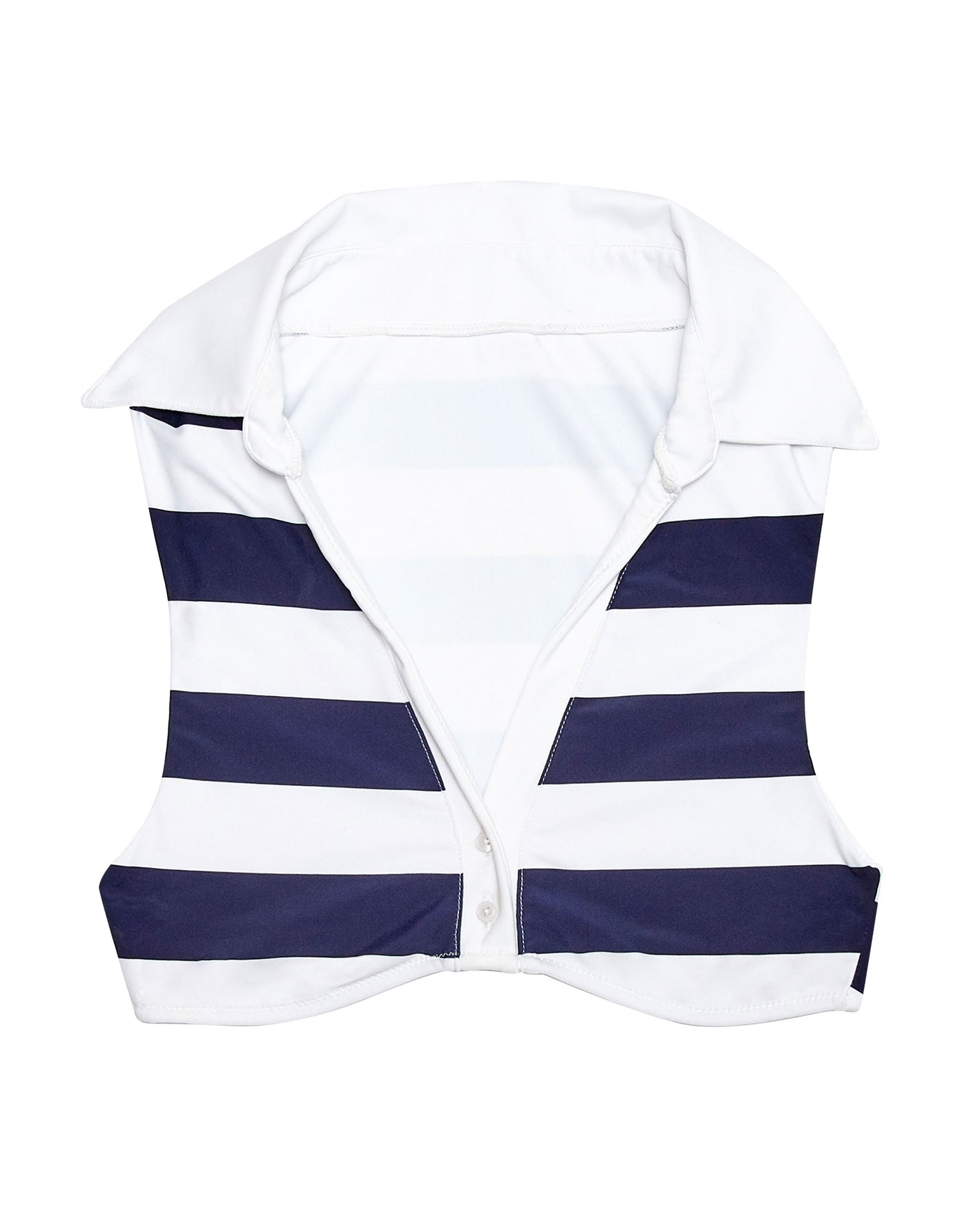 lola navy stripe crop top - product view
