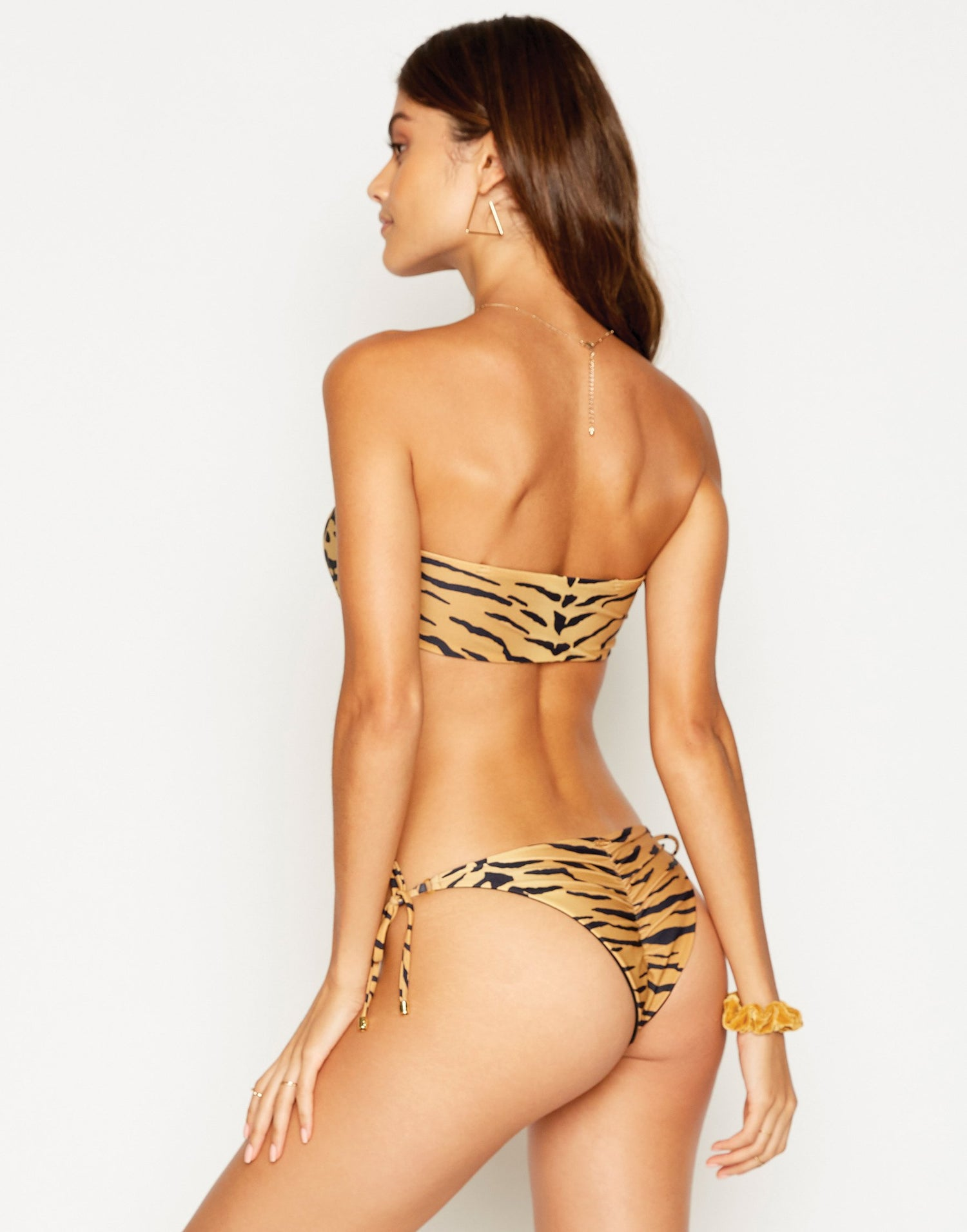 London Bralette Bikini Top in Tiger without Straps - back view