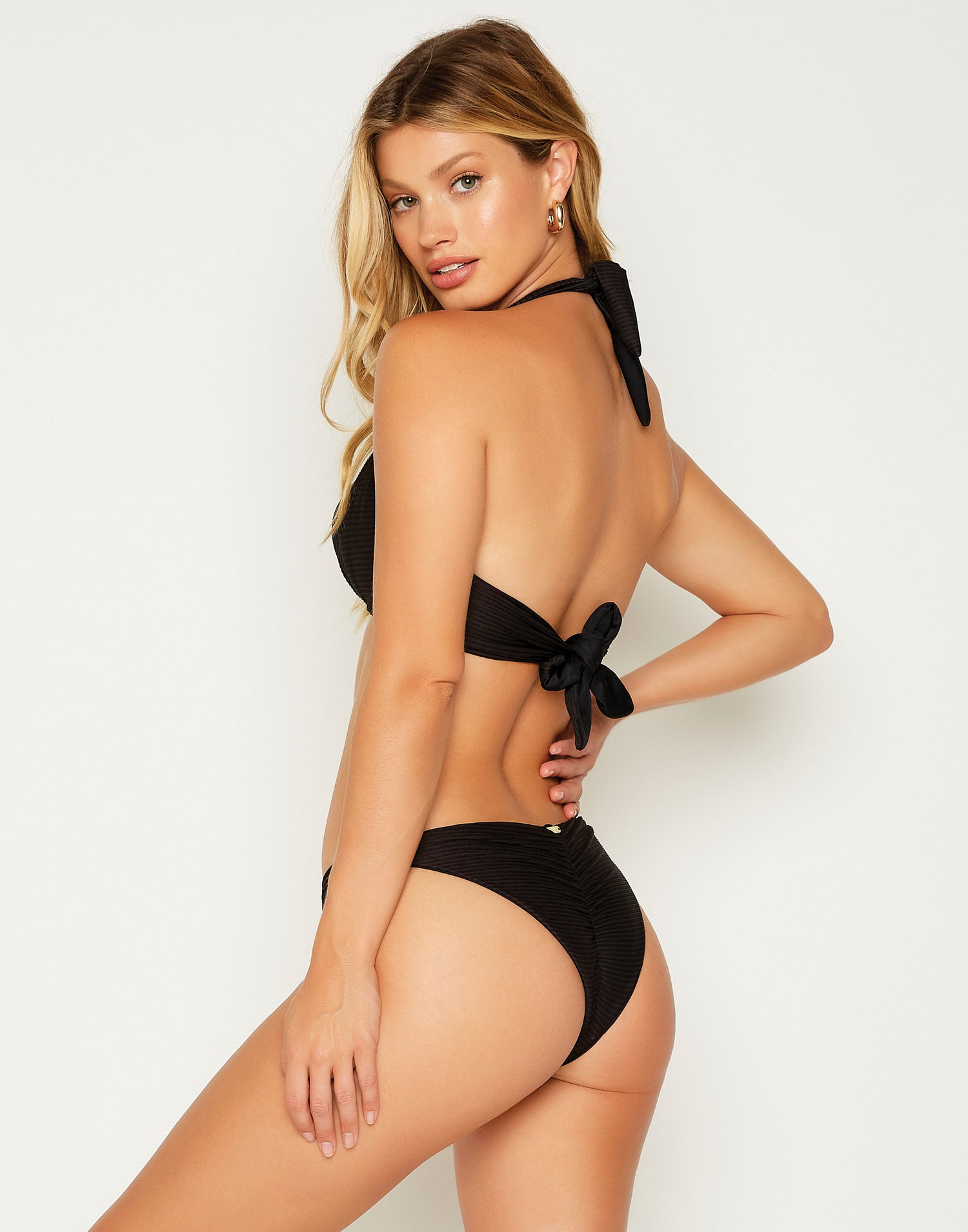 Madagascar Glam Sexy Push Up Bikini Top in Black - back view