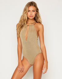 Madison One Piece in Tortuga with Gold Hardware - Front View