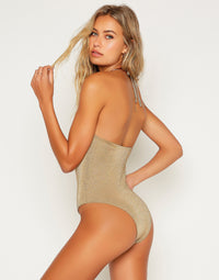 Madison One Piece in Tortuga with Gold Hardware - Back View