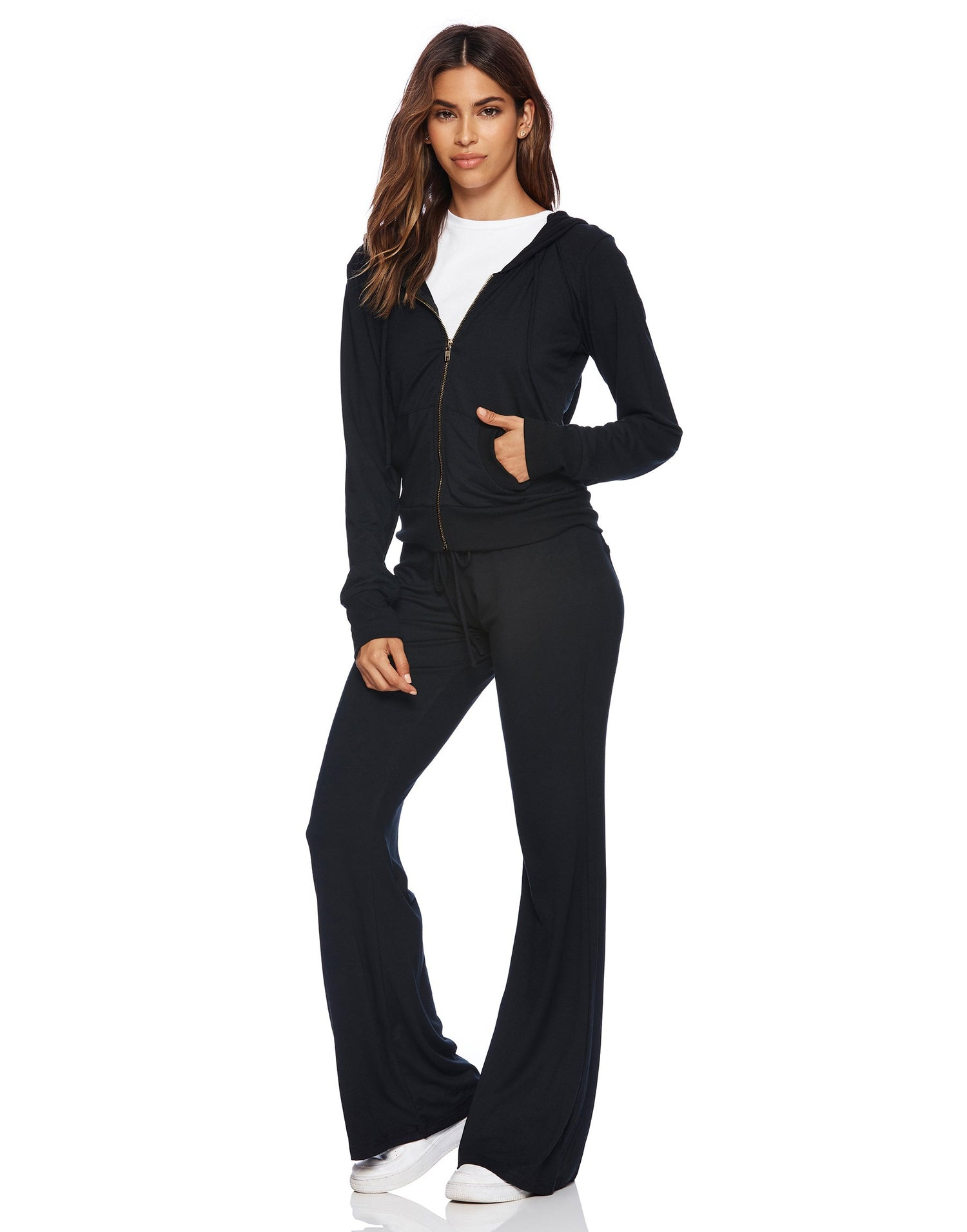 Maggie Pant in Black - alternate front view