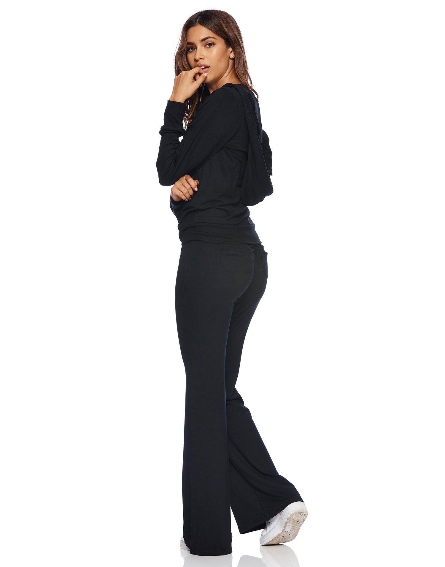 Maggie Pant in Black - side view