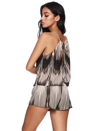 Mystique Romper in Charcoal - back view