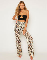 Rosie Pant - Leopard Front View