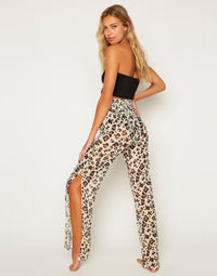 Rosie Pant - Leopard Back View
