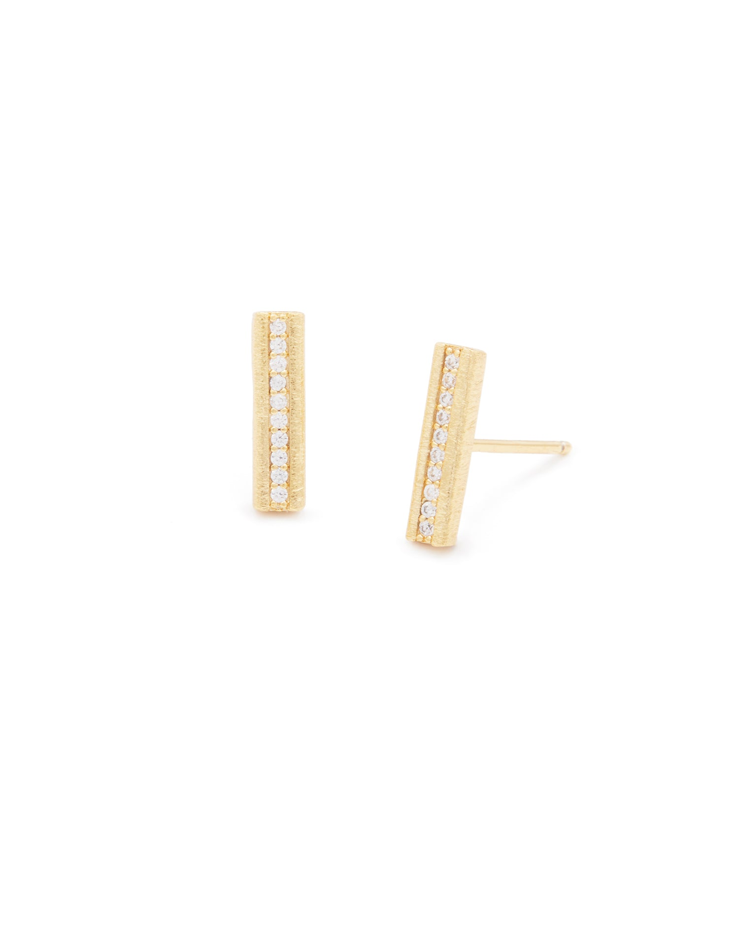 Nia Shimmer Studs in Gold - product view