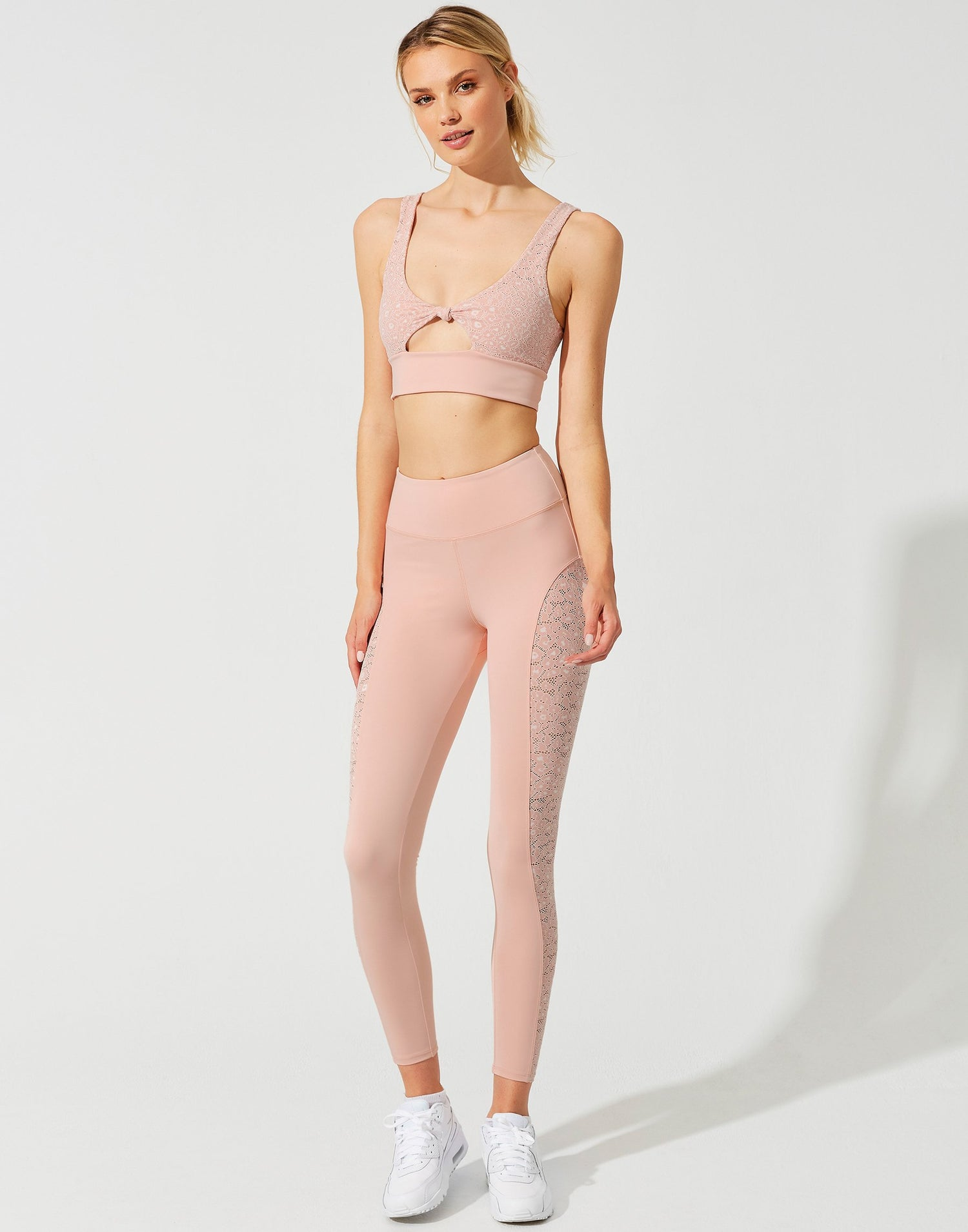 Fiona Legging in Pink Leopard - front view