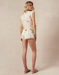 Niko Romper in Chiffon - back view