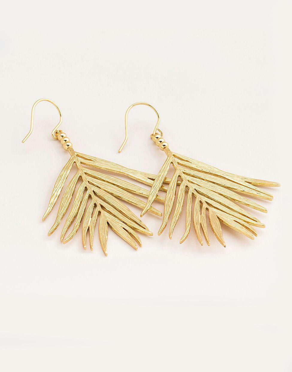 Palm Drop Earrings Side View