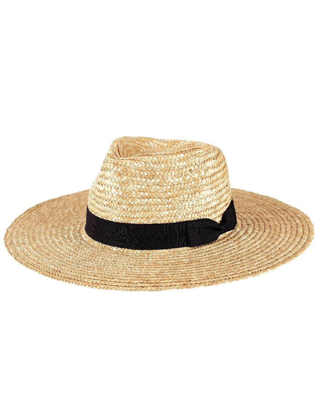 San Diego Hat Company's Pinched Crwon Wheat Straw Sunbrim Hat in Natural - product view