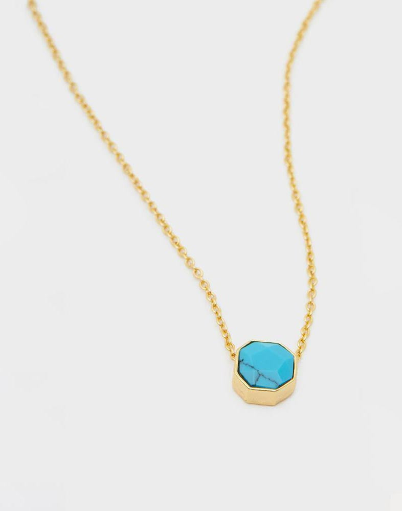 Gorjana's Power Gemstone Charm Necklace for Healing in Gold - product view