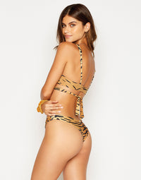 Sydney Brazilian Bikini Bottom in Tiger - side view